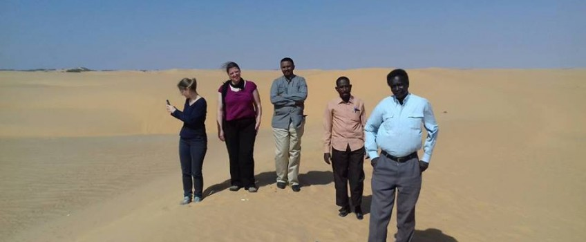 Researchers from the German University of Gottingen visit the National Institute of Desert Studies
