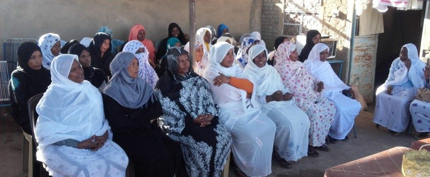 Dean of Community College checks out Female Learners of Wad Hussein Abu Logma