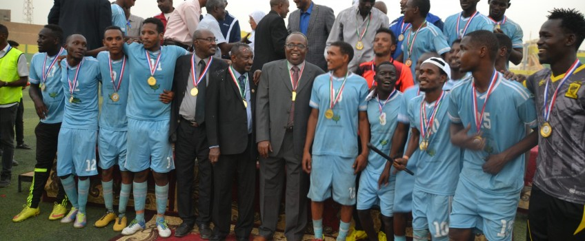 University of Gezira crowned with the Title of the Universities Football Championship