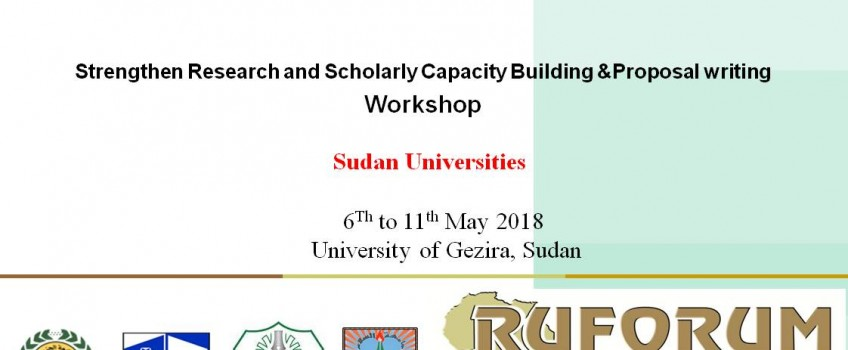 A Workshop on Promoting Research, Building Scientific Capacity and Writing Proposals
