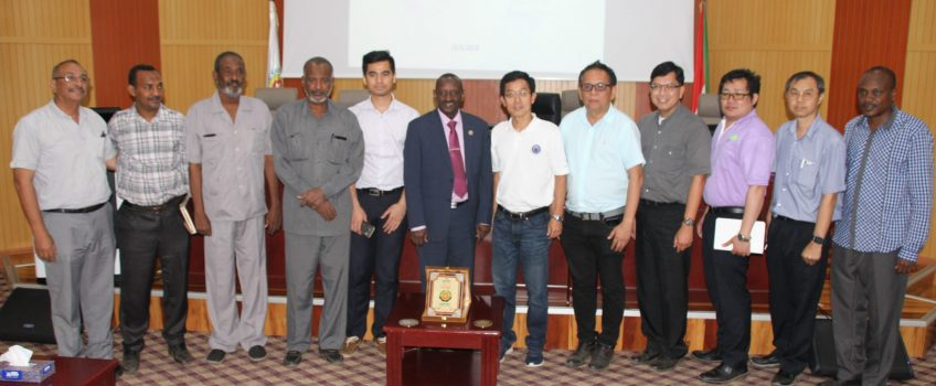 The Ambassador of Thailand searching with the Vice Chancellor of the University of Gezira the prospects of Developing the Sugar Industry in Sudan