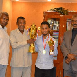 """The Student """"Ayman"""" wins First place in the Chess Game in the Sudan"""