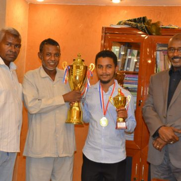 "The Student ""Ayman"" wins First place in the Chess Game in the Sudan"