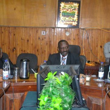 The Delegation of the Sudanese National Geographical Society Meets with the University Administration